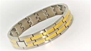 Titanium Two Tone Dress Bracelet