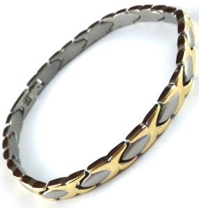 Titanium X & Oval Two-Tone Bracelet/Anklet